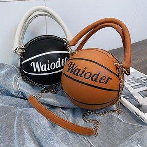 Mulheres Elegante Cadeia Basketball Crossbody Tote Shoulder Bag 2020 New Luxury Basketball Bolsas de alta qualidade Ladies Corpo Cruz # 18772