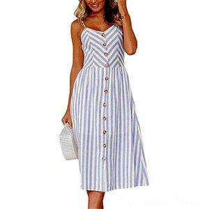Soft Designer 7VVkC verano de las mujeres vestidos de las mujeres s mujer vestidos de verano informal Mar Beach largo del estilo de Cutton cómodo Lluxury y mezcla Dres