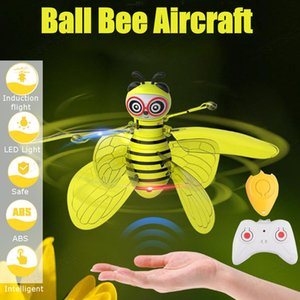 Mini Drone Induction Bee Flying UFO Fairy Aircraft for Kids Dropship RC Helicopter Fly Ball Toys for Boys Girls