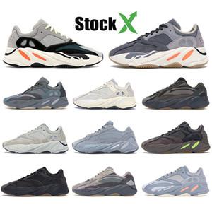 azul esverdeado 700 do corredor da onda Running Shoes Homens Mulheres Vanta Geode inércia tephra utilidade estática preto Sports Kanye West Sapatilhas v2 Designer