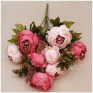 Faroot Artificial Silk Peony Vintage Flowers Home Wedding Party Bridal Bouquet Decor
