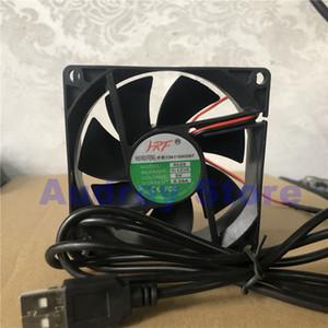 Dekoderinizin yönlendirici Şasi Yeni 8025 5V 0.26A 8CM USB Soğutma fanı hava fanı