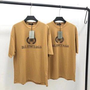 2020 Brandshirt горячий продавец Designerluxury женщины мужская футболка мода повседневная весна лето тройники высокое качество роскошные девушки футболка 20022121Y