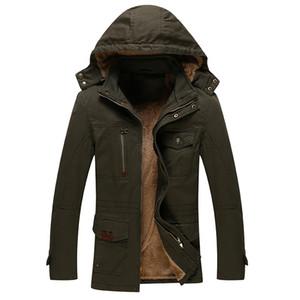 Plus Size 3XL 4XL Winter-mit Kapuze Kragen Outwear Windjacke Mantel-Mann-Kleidung 135