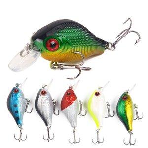 5pcs Lot 5.5cm 7.8g Fishing Lure Set Kit Bass Pike Hard Bait Artificial Wobblers Bionic Bait Treble Hook Minnow Lures