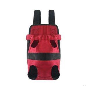 حقيبة الحيوانات الأليفة الكلب على ظهره جبهة الصدر المحمولة القماش حقيبة الظهر الناقلون مع أزرار السفر في الهواء الطلق المعمرة الكتف حقيبة للكلاب قطط XHCFYZ131