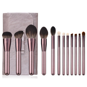 New arrival Makeup Brush Set 12pcs Delicate Makeup Brushes Powder Foundation Contour and Eye Brushes J1549