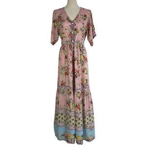 2019 Xia Ladies Easy Posimi Zweiter Sandstrand Im Urlaub Wind Will Pendel Bouffancy Lang Fund Printing Dress You