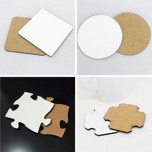 95 * 95 millimetri di sublimazione Coaster spessore di 4 mm in MDF legno regalo fai da te stuoia della tazza personalizzata Desk Decoration tazza del rilievo della tazza di caffè per la bottiglia di acqua A09