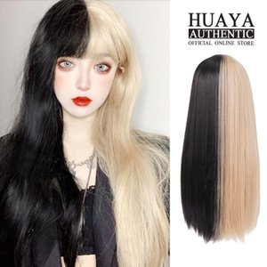 HUAYA Lolita Wig With Bangs Long straight Wig Heat Resistant Fiber Sythetic Daily Party or Cosplay Hairpieces