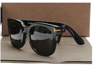TF211 с логотипом солнцезащитные очки Wome Real Handmade Ацетат Мужчины Том люксовый бренд дизайнер Деми Tortoise Big крупноформатных Punk