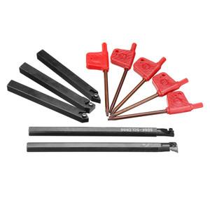 5 unids 8 mm vástago de herramienta de torneado de torno indexable con CCMT060204 DCMT070204 insertos de carburo para la máquina CNC