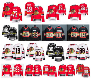 NHL Chicago Blackhawks Jersey 19 Jonathan Toews 88 Patrick Kane 00 Clark Griswold 12 Alex DeBrincat Duncan Keith Kirby Dach Seabrook Hokeyi
