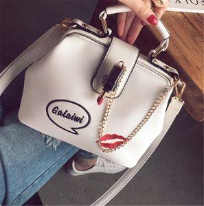 Simple versatile single shoulder bags embroidered lipstick Handbag messenger bag3 PH-CFY2001122