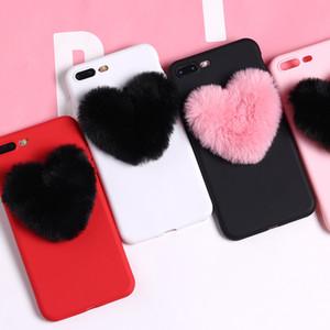 Para Iphone 11 Pro Phone Case Xs Max Xr Amor Plush Bola 6 7 8 Casos Celular bonito da menina macias X mais