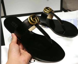 2019 Deri Sandal Kadınlar Lüks Terlik Moda İnce Siyah Ayaklı Marka Ayakkabı Bej Ayakkabı Sandalet kolların Ayakkabı Floplar