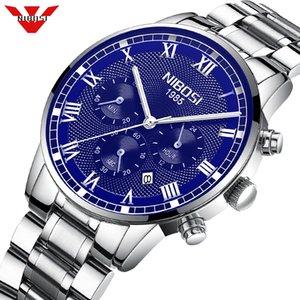 NIBOSI Uhren Uhr-Mann-Mode-Sport-Quarz-Uhr Herren-Uhren Geschäft wasserdichte Uhr Relogio Masculino