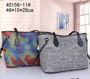 2pcs set high qulity classic womens handbags flower ladies composite tote PU leather clutch shoulder bags handbags purses free shipping