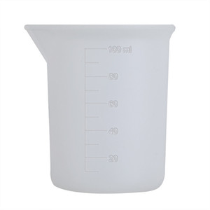 100 ملليلتر كوب قياس شفافة مع مقياس الغراء سيليكون أدوات القياس ل diy الخبز مطبخ بار الطعام الاكسسوارات بالجملة