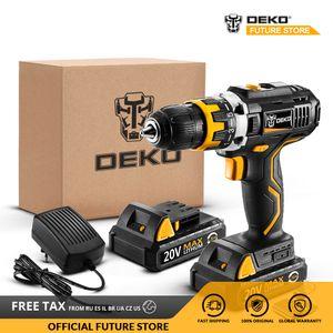 DEKO GCD20DU2 20V MAX perceuse sans fil tournevis électrique au lithium-ion Mini Power Pilote 1/2-pouces à vitesse variable 2 Batterie