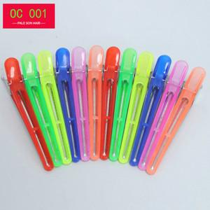 OC 001 Hot Trends koreanischer Stil Langer farbige Hairpin Schönheitssalon Einfaches Metall / Harz Hairpin kostenlose Lieferung Clip Entenschnabel