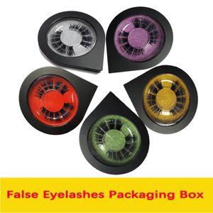 False Eyelashes Packaging Box Custom Logo Lashes Individual 3D Mink Fake Eyelashes Eye Lash Bulk Private Label Eyelash Packaging Cases