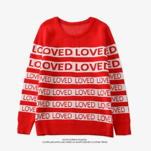 Drop Ship Free Womens Winter Men Women Sweater Dna Suga Mismo estilo Loved Pullover Kpop Student Lovers Harajuku Sweaters SH190903