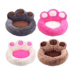 НОВЫЕ 4 Цвета Супер Роскошные Кровать Собаки Питомник Уютный Мягкий Теплый Pet Puppy Cat Dog House Гнездо Медведя След Постельные Принадлежности Кровать