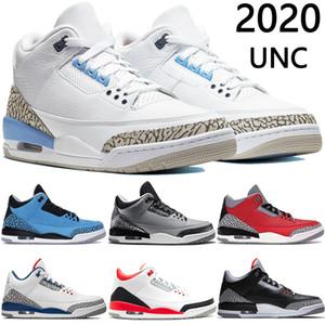 2020 Yeni Jumpman UNC SE Unite Ateş Kırmızı Toz Mavi basketbol ayakkabıları beyaz çimento kurt gri j kara kedi erkek Sneakers eğitmenler mens