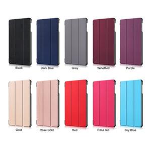 """Solide magnetischen PU-Leder-Kasten-Foliofalte-Abdeckung für Samsung Galaxy Tab 10.1"""" A T515 T510 (2019) Tablet + Stylus"""