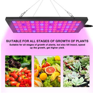LED Grow Light Grow Light 100W 9900LM Full Spectrum For Indoor Greenhouse Tent Plants Grow US EU Plug