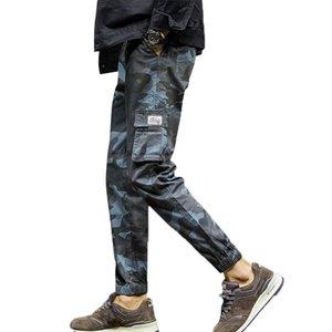 LNCDIS Hommes Mode Camouflage Neuf Points Pantalons Décontractés Automne Printemps Automne Midweight Full Length Pants Hommes Streetwear Pants PLUS taille