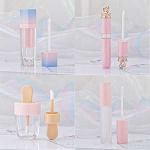 Rose Lip Gloss Tint Tubes en plastique bricolage Maquillage vide Big Lipgloss liquide Lipstick Beauty Case Emballage F2286