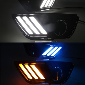 1 sistema para Jeep Compass 2017 2018 2019 del coche LED DRL luz con función de señal amarillo relé Daytime Running Light luz del día