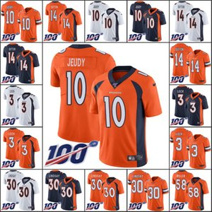 DenverBroncosMen #10 Jerry Jeudy 14 Courtland Sutton 3 Drew Lock 30 Phillip Lindsay Women YouthNFL 100th Limited Jersey