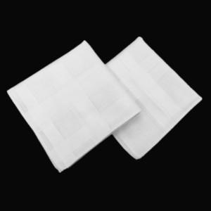 43 * 43cm asciugamani in cotone pettinato fazzoletto bianco Piccola Piazza del tovagliolo Uomo