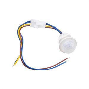 Bina Otomasyon Hareket Akıllı LED 110V 220V PIR Kızılötesi Hareket Sensörü Anahtarı Oto Açık Kapalı Işık Anahtarı PIR Sensör Dedektör
