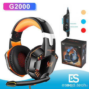 KOTION EACH G2000 Computer Stereo Headphones Gaming Headset Casque Deep Bass Game Earphone With Mic LED Light For PC Gamer