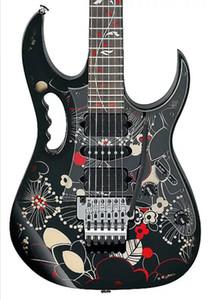 Dans le monde entier FAST S / H JEM 77FP2 Motif floral 2 Steve Vai Guitare électrique Arbre de vie inlay, Floyd Rose Tremolo, l'écrou de blocage, matériel Nickel