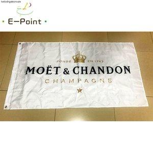 Moet Chandon 3 * 5ft'lik (90cm * 150cm) Polyester bayrak Bayrak Banner dekorasyon uçan ev bahçe bayrak Bayram hediyeler