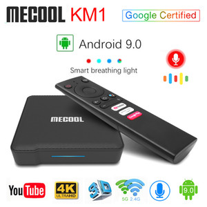 Mecool KM1 ATV Amlogic S905X3 4GB 32GB Android TV 9.0 certificato di Google TV Box Voice Input Dual Control WiFi 2T2R Smart TV