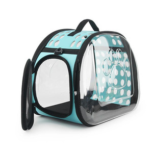 Cat Transparent Bag Small Carrier Dog Bag Gatti portatili borsa pieghevole Borsa a tracolla viaggio per Puppy