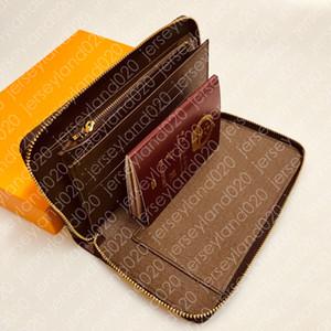 M60002 ZIPPY ORGANIZADOR Diseñador larga para mujer del talonario de cheques de lujo para hombre XL Monedero cubierta del pasaporte de la moneda tarjeta Ticket Holder Organizador de bolsillo Pochette