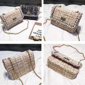 Designer-Remiel Mulheres Bolsas 2018 New alta qualidade Designer Qoolen quadrado pequeno saco de Mulheres Handbag de pérolas Cadeia Ombro Mensageiro ba