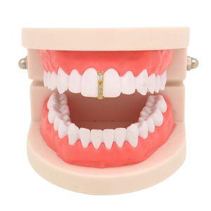 MainLead Forme Gold Grills Hip Dent Dent Strass Hop Top Single Caps Dental Dental Stick Stick Gioielli Party Clip Uipmh