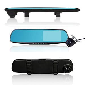 Горячие продажи 4,3-дюймовый автомобильный видеорегистратор камера Full HD 1080P автоматическая камера зеркало заднего вида с видеорегистратором и камерой авторегистратор Dashcam автомобильные видеорегистраторы