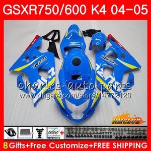 Кузовной для SUZUKI GSX-R 750 GSX R750 GSXR600 GSXR600 04 05 7HC.0 GSXR750 GSXR 600 04 05 K4 GSXR750 2004 2005 обтекателя комплекта Нового завода синего