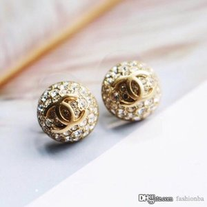 New Fashion Luxury Designer Ear Stud Earrings for Women Jewelry Gold Love Letter Earrings for Party Gift with Box