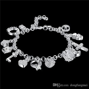 Bilezik Avrupa ve Amerikan Sıcak satış Gümüş Moda Onüç Kolye Bileklik Ladies Çok eleman Takı Yüksek Kalite