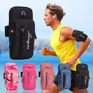 Simple Style Running Men Women Arm Bags for Phone Money Keys Outdoor Sports Arm Package Bag with Headset Hole Drop Shipping